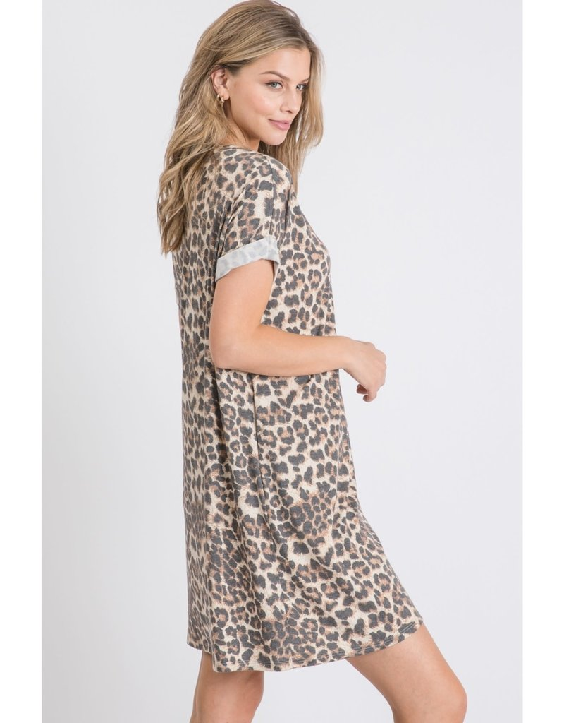 Leopard Print Boxy Dress