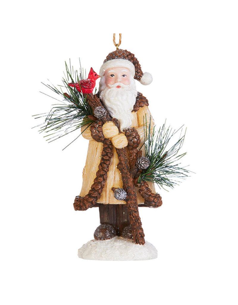 """5"""" Woodland Santa Ornament"""