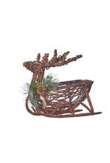 Twig Reindeer Sleigh