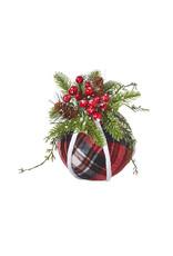 """9"""" Plaid Ball Ornament"""