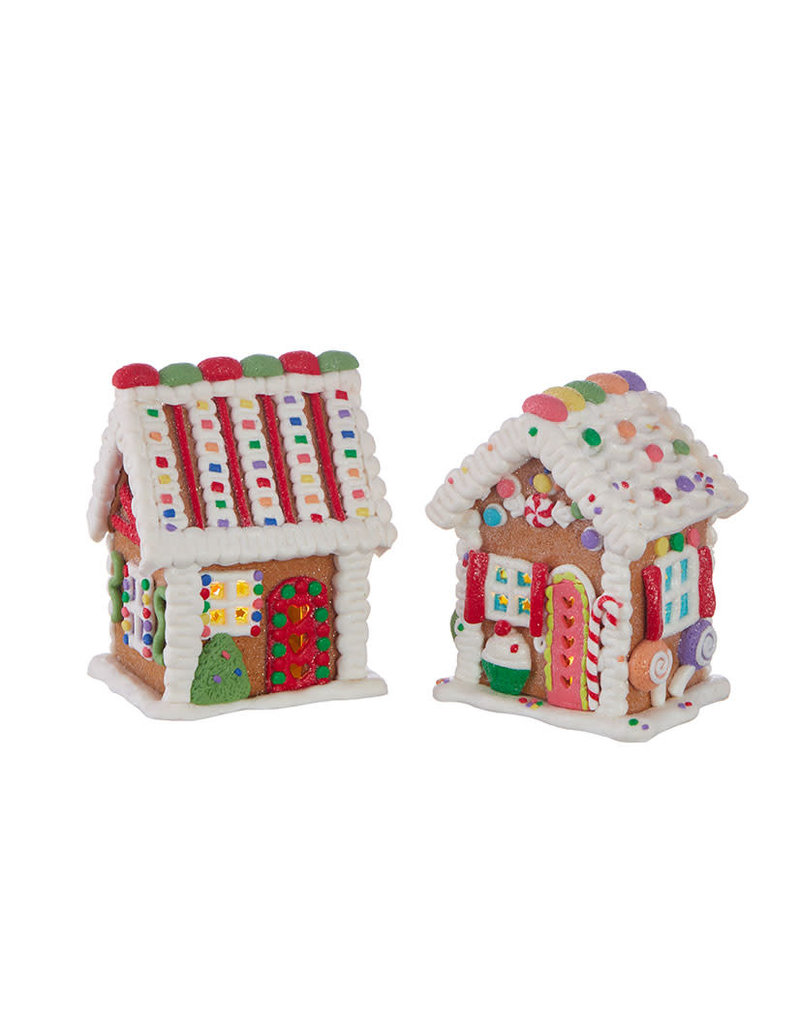 Lighted Gingerbread Houses