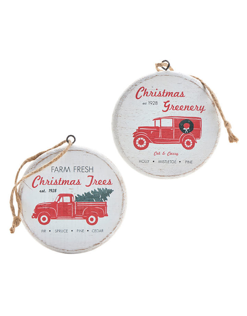 Holiday Delivery Truck Ornament