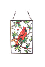 Cardinal Stained Glass Ornament
