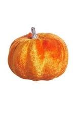 """2.75"""" Orange Velvet Pumpkin"""