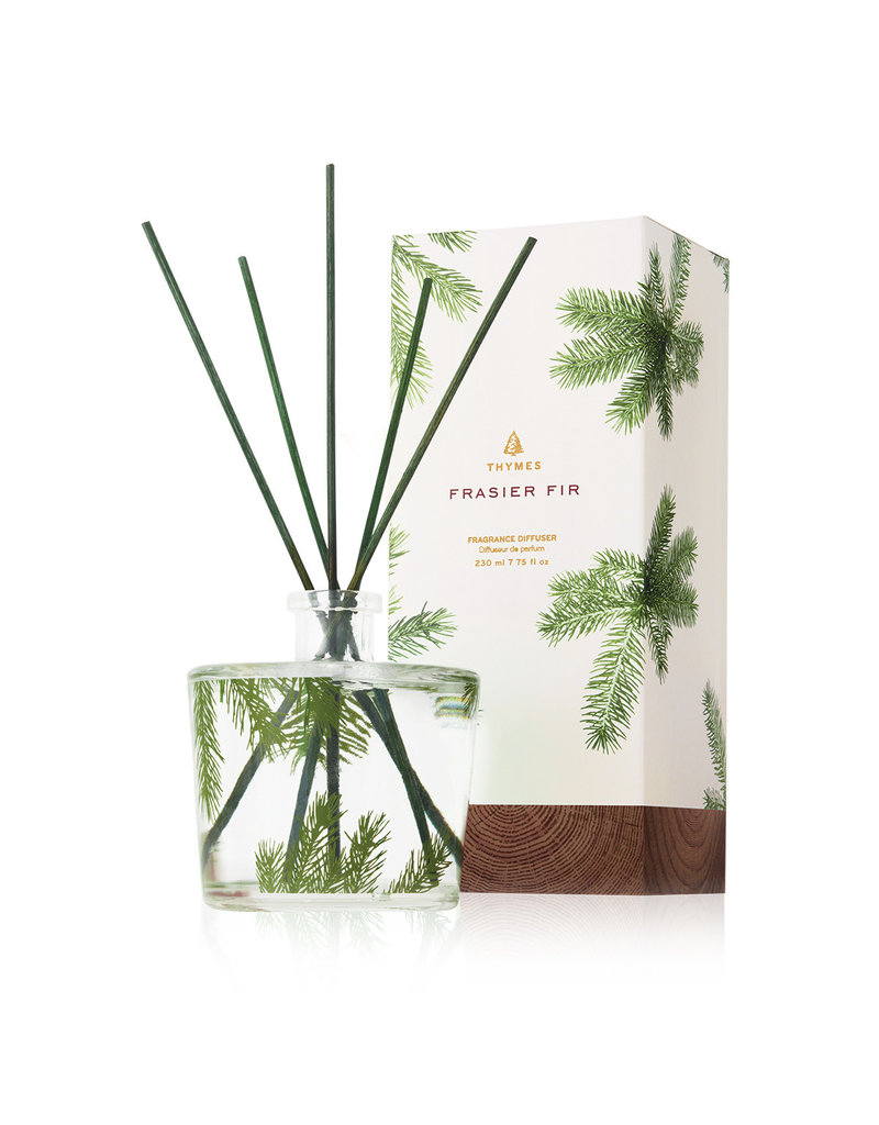 The Thymes Frasier Fir Reed Diffuser, Pine Needle Design