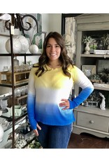 Ombre Raglan Sleeve Top