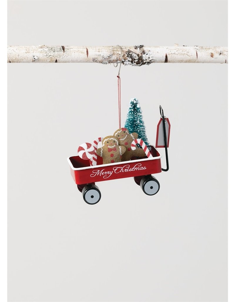 Gingerbread in Wagon Ornament