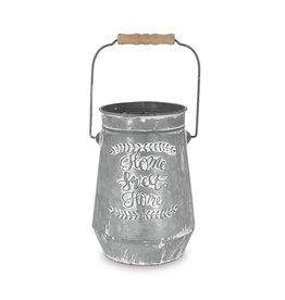 Burton & Burton Home Sweet Home Tin Vase