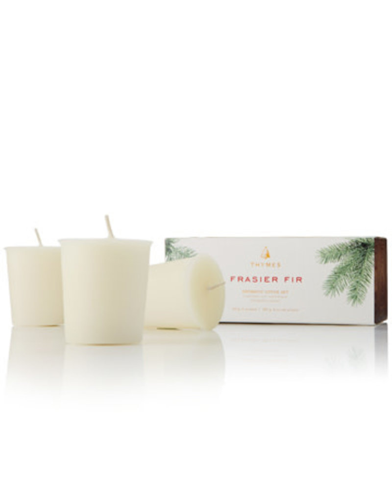 The Thymes Frasier Fir Votive Candle Set