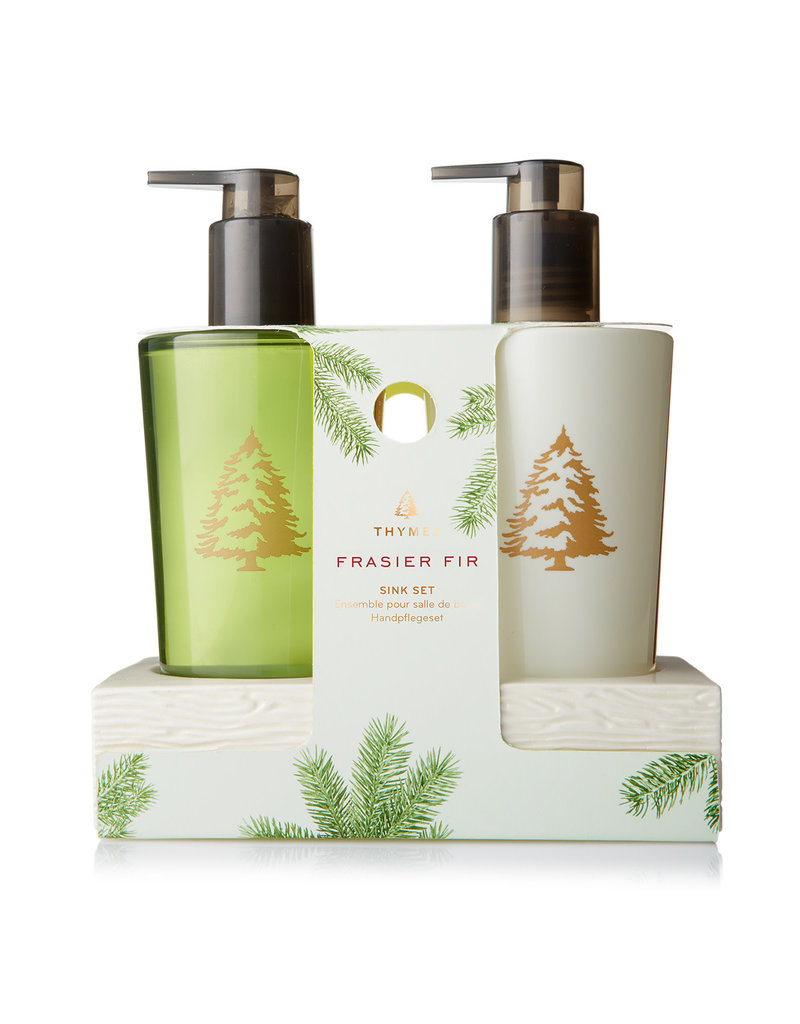 The Thymes Frasier Fir Sink Set With Ceramic Caddy