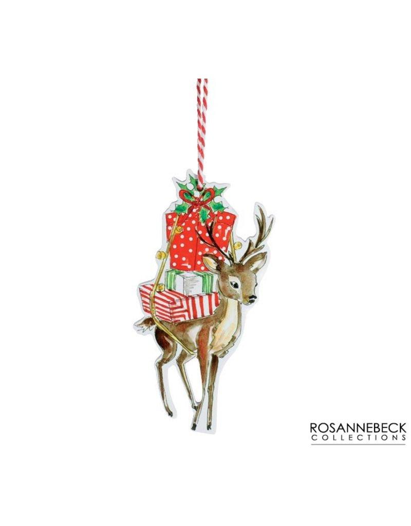 Burton & Burton Reindeer With Gifts Ornament
