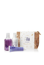 The Thymes Lavender Travel Set w/ Beauty Bag