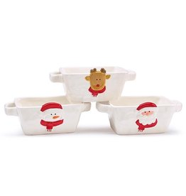 Burton & Burton Ceramic Rectangle Christmas Dish