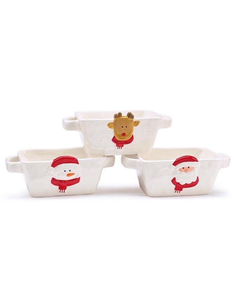 Burton & Burton Ceramic Rectangle Christmas Dish