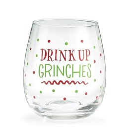 Burton & Burton Drink Up Grinches Stemless Wine Glass