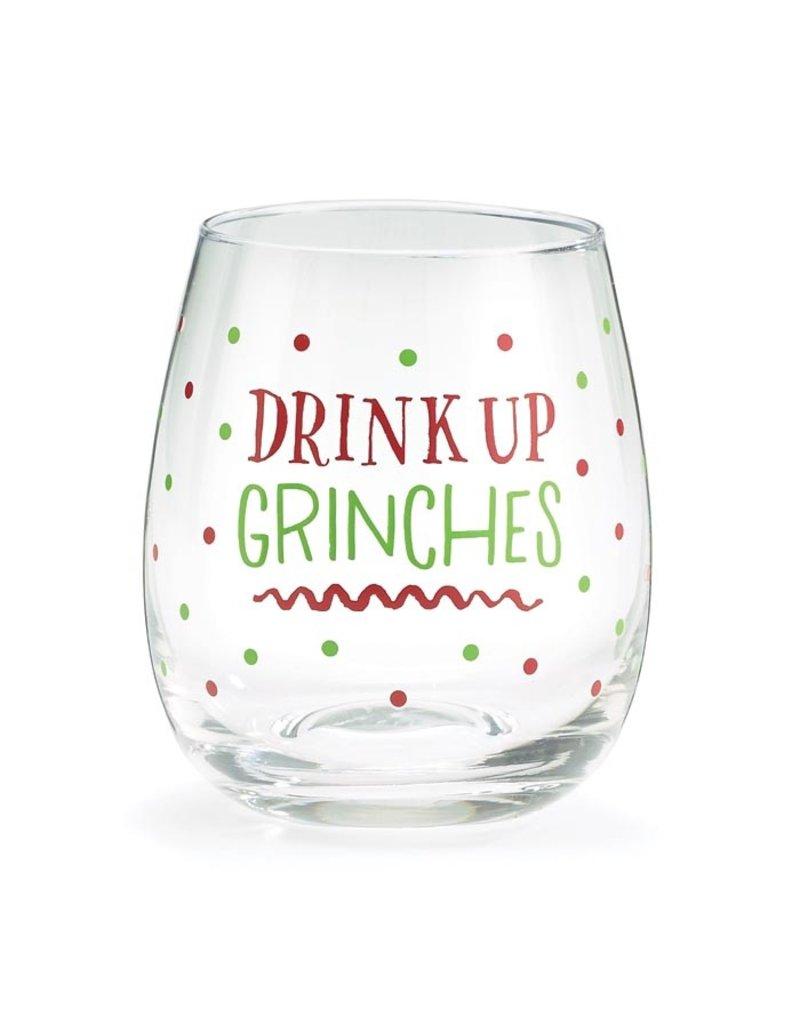 Burton & Burton Drink Up Grinches Stemless Wine Glass