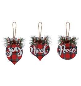 Burton & Burton Tartan Ornament
