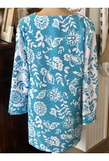 V-Neck Wave Knit Tunic Top