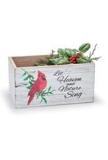Burton & Burton Christmas Cardinal Wood Planter