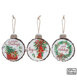 Burton & Burton Wood Disc Ornament