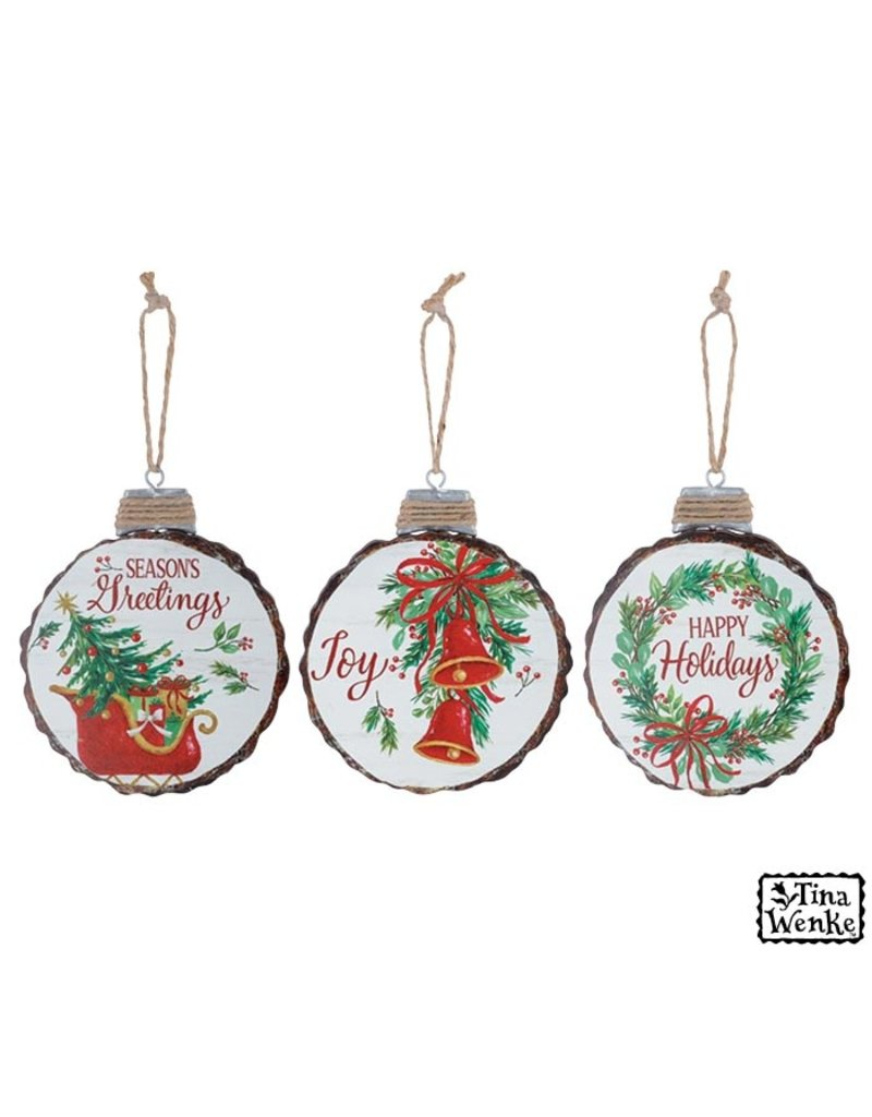 Burton & Burton Wood Disc Ornament