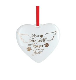 Burton & Burton Paw Prints Forever In My Heart Ornament