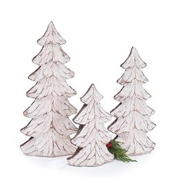 Burton & Burton Distressed White Resin Tree