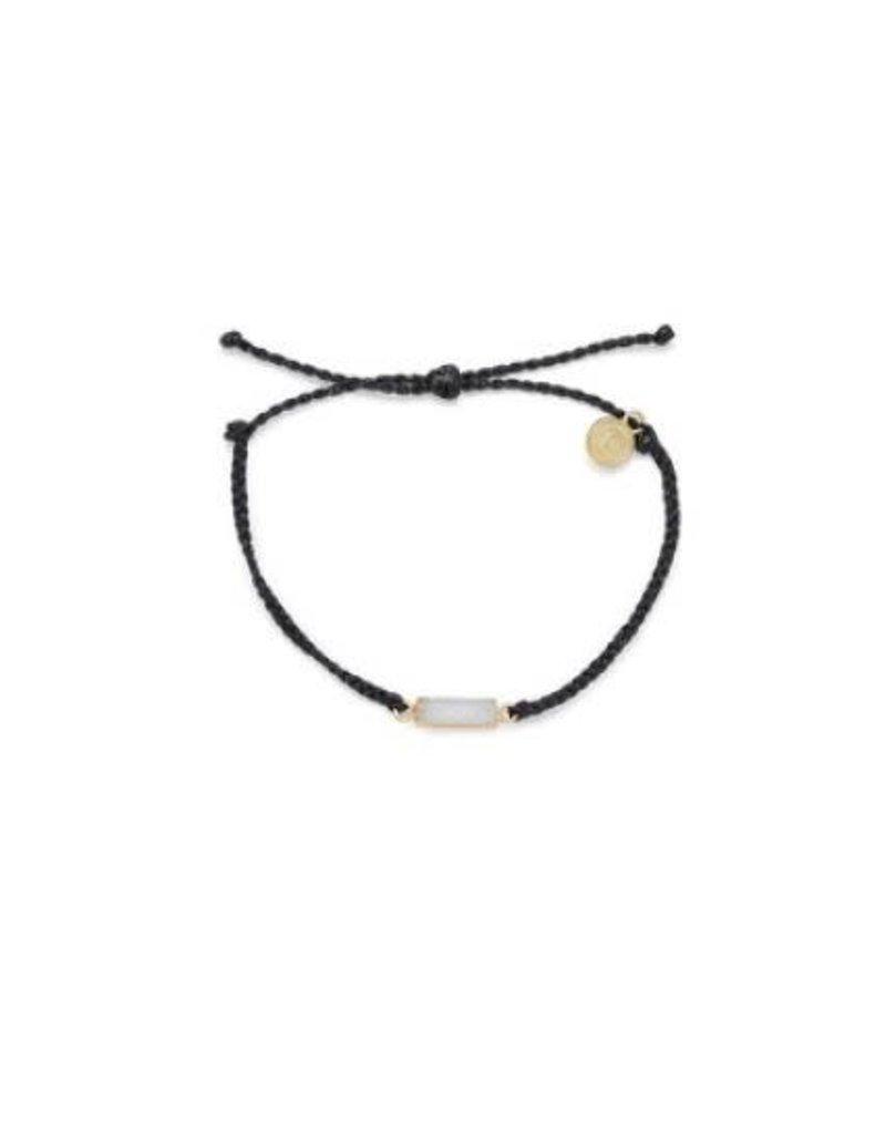 Pura Vida Druzy Gold Bracelet, Black