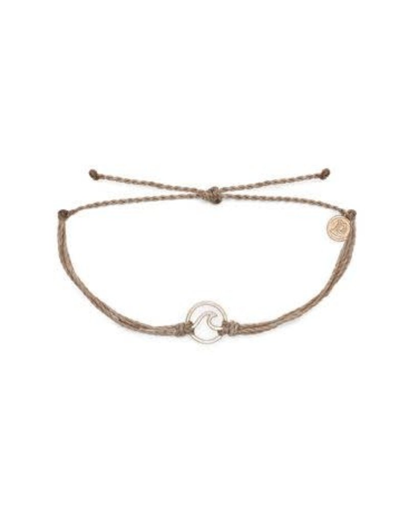 Pura Vida Rose Gold Wave Bracelet Sandlewood