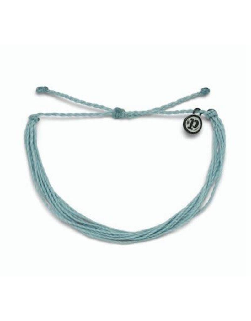 Pura Vida Bright Solid Bracelet, Smoke Blue
