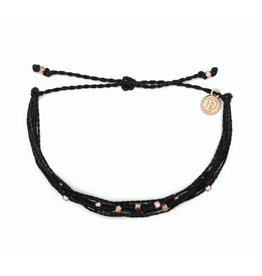 Pura Vida Rose Gold Malibu Bracelet, Black