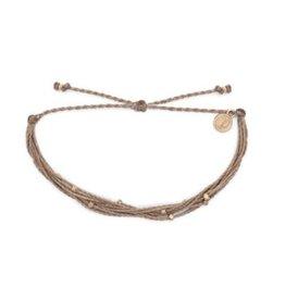 Pura Vida Rose Gold Malibu Bracelet, Sandlewood