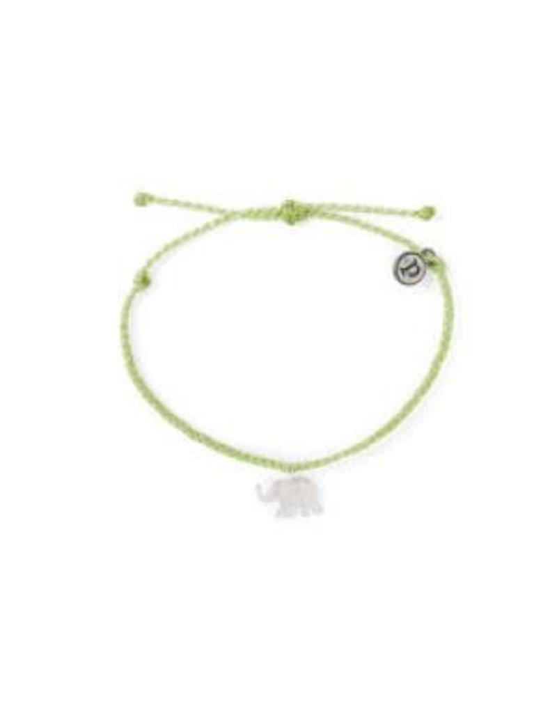 Pura Vida Silver Elephant Bracelet, Doublemint