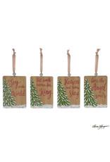 Burton & Burton Wood Christmas Tree Ornament With Message