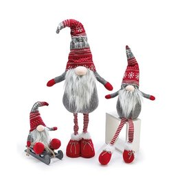 Burton & Burton Gnome With Red & Grey Knit Hat
