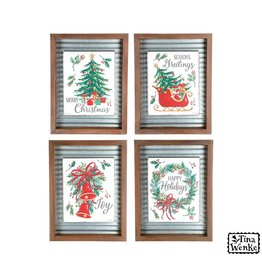 Burton & Burton Metal & Wood Christmas Wall Hanging