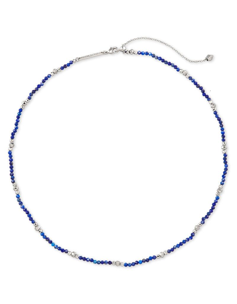 Kendra Scott Scarlet Choker Necklace Rhodium Blue Lapis
