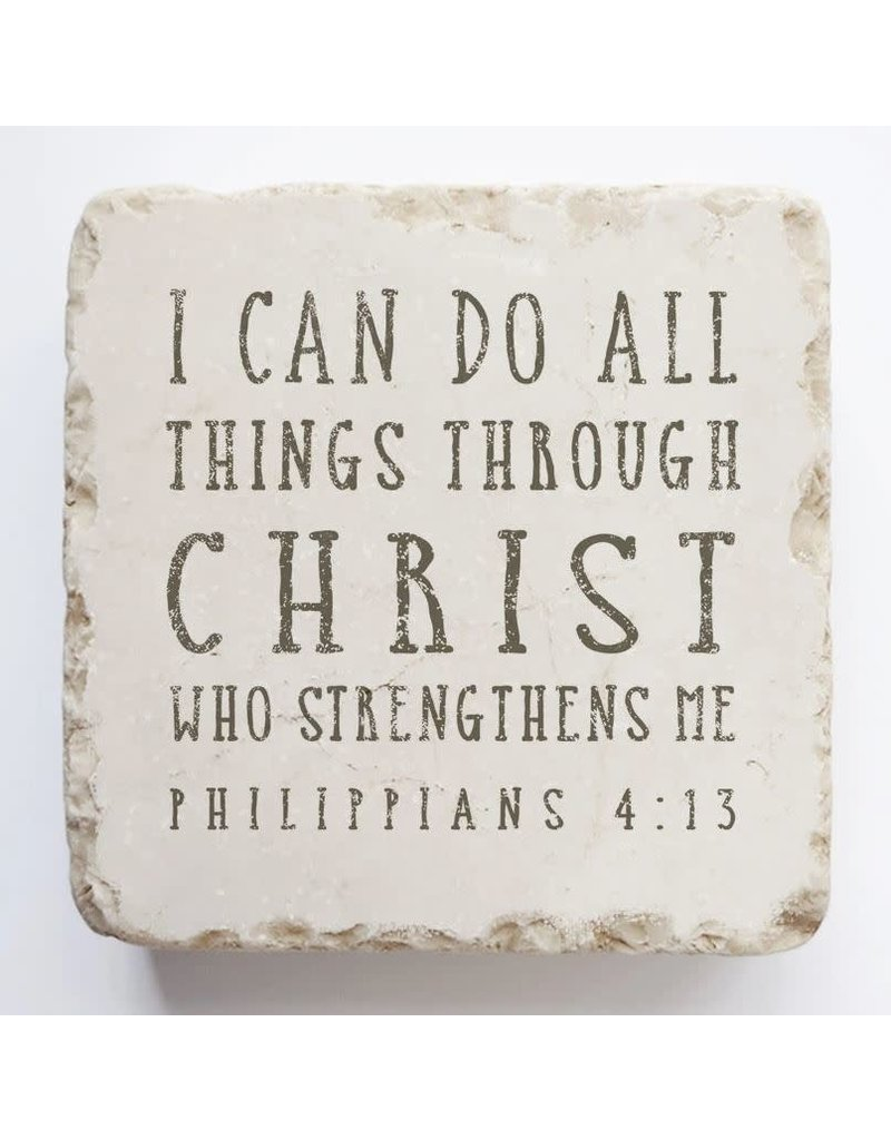 Twelve Stone Art Philippians 4:13 Scripture Stone