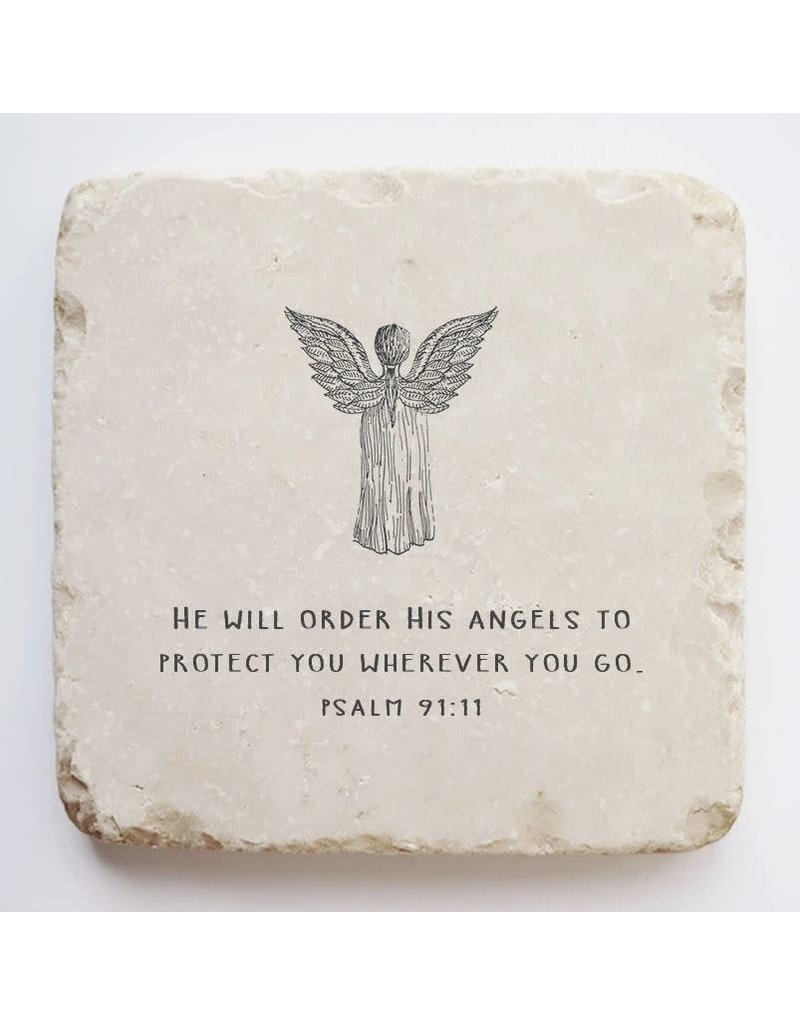 Twelve Stone Art Psalm 91:11 Scripture Stone