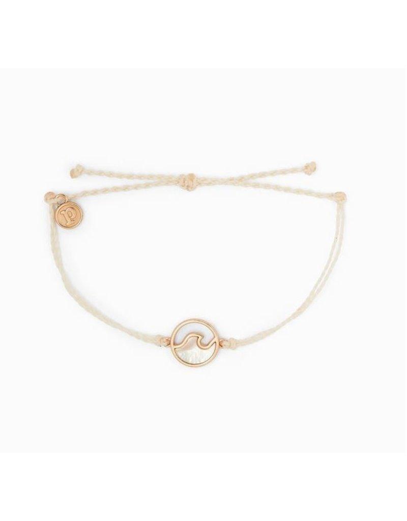 Pura Vida Stone Wave Bracelet Rose Gold Vanilla