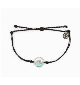 Pura Vida Stone Wave Bracelet Silver Black