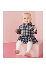 Mud Pie Check Floral Skirted Crawler