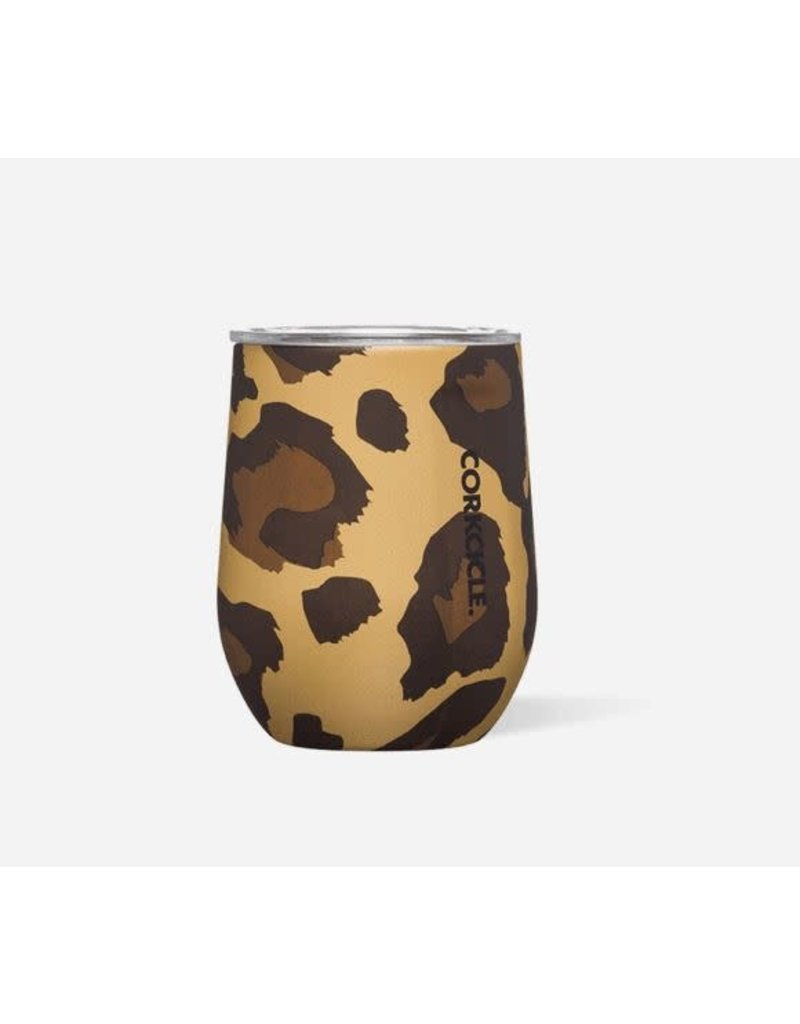 Corkcicle Stemless 12oz Luxe Leopard