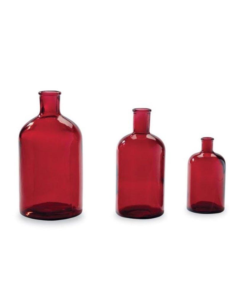 Mud Pie Red Bottleneck Vase