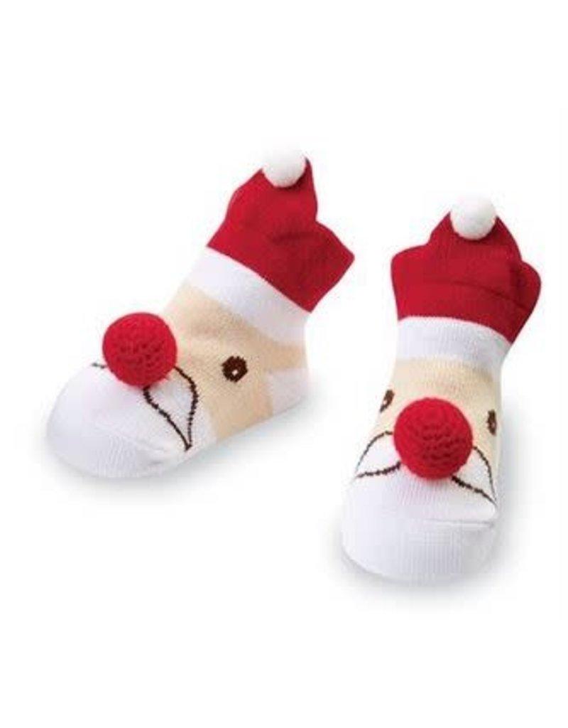 Mud Pie Santa Rattle Toe Socks