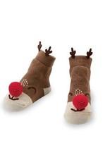Mud Pie Reindeer Rattle Toe Socks