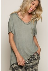 Relaxed Fit V-Neck Top