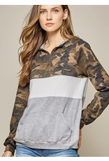 Colorblock Pullover with Zipper