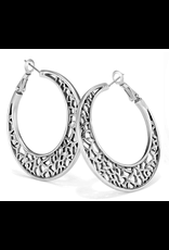 Brighton Fiji Sparkle Hoop Earrings, Silver