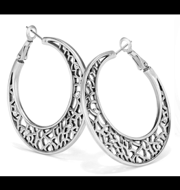 Brighton Fiji Sparkle Hoop Earrings, Silver